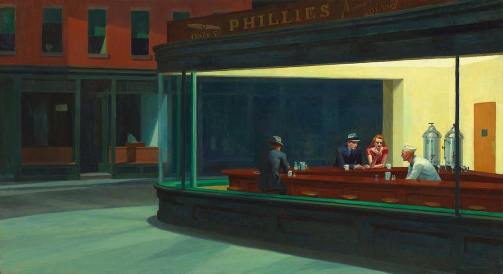 Noctámbulos de Edward Hopper